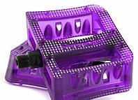 Педалі 9/16 plastic composite platform Cr-Mo вісь прозоро-фіолетові (19-210) PRIMO