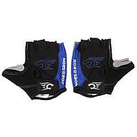 Перчатки велосипедные Robesbon M-XL гелевые беспалые вело велоперчатки 7201 Blue