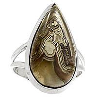 Агат Мексиканская лагуна, серебро 925, кольцо, 494КА