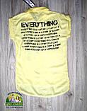 Блузка желтая для девочки подросток, фото 3