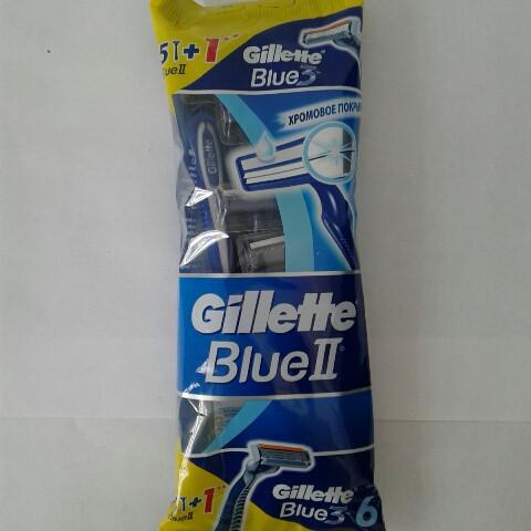 Станок мужской одноразовый Blue II 5 шт. + 1 станок одноразовый Blue 3