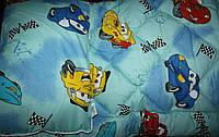 Комплект одеяло+ подушка детская, набор одеяло 110х140см и подушка 40х60 Тачки