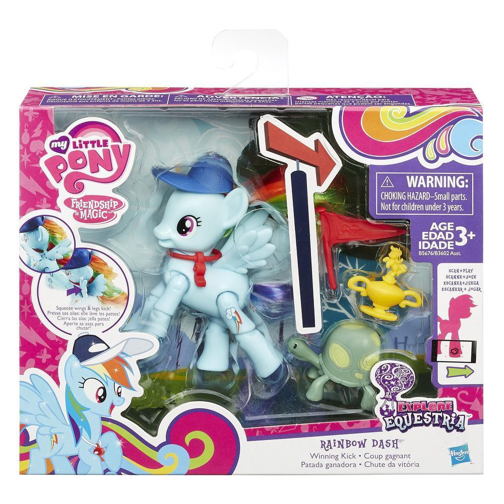 Игровой набор My Little Pony Equestria  Rainbow Dash с артикуляцией (B5676-B3602)