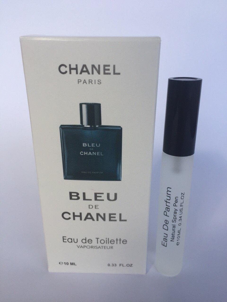 Мужской мини парфюм с феромонами Chanel Bleu de Chanel (Шанель Блю де Шанель) 10 мл