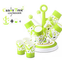 Набор из 6 кружек 0.415л на подставке Candy Tree Cup Holder A 363