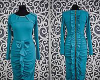 Женское платье с молнией на спинке 44 размер норма