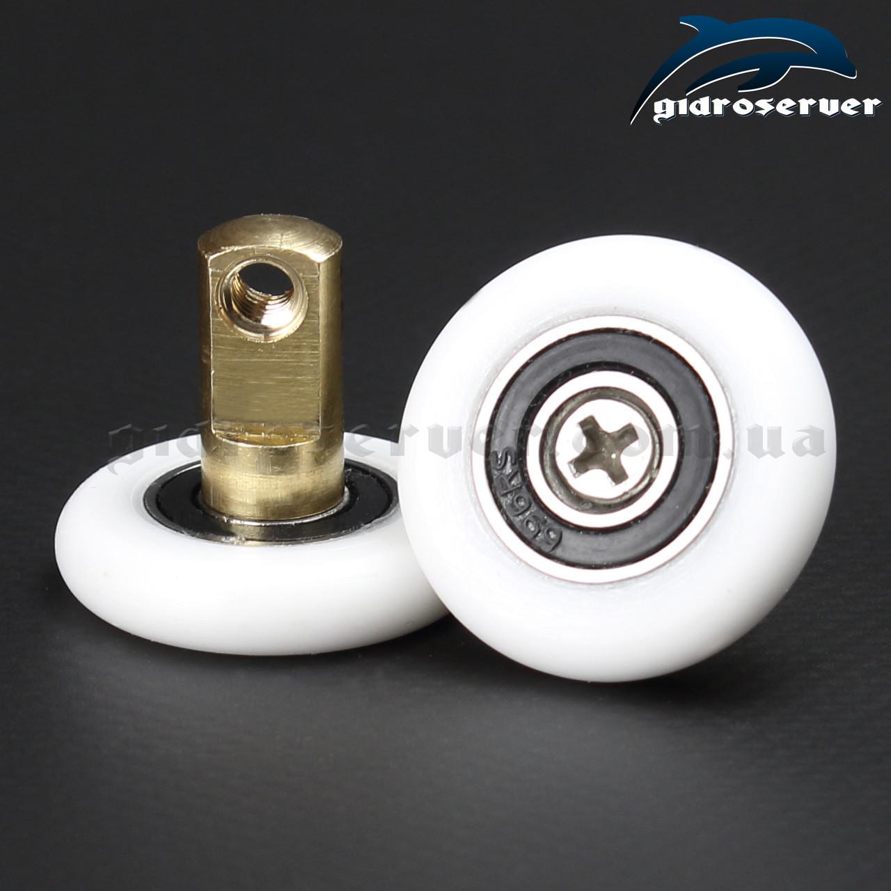 Сменная ось со съемным колесом для роликов душевых кабин, гидробоксов OS-01.