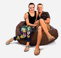 Кресло-груша коричневого цвета, размер XXL