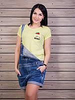 Женская желтая футболка из трикотажа супрем