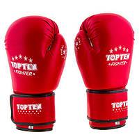 Перчатки боксерские TOPTEN FIGHTER (10 унций, красный)