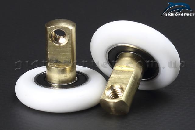 Сменная ось для роликов душевой кабины, гидромассажного бокса OS-01 с диаметрами колес от 19 до 27 мм.