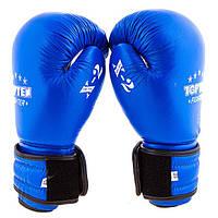 Перчатки боксерские кожаные TOPTEN AIBA TT025 (синий)