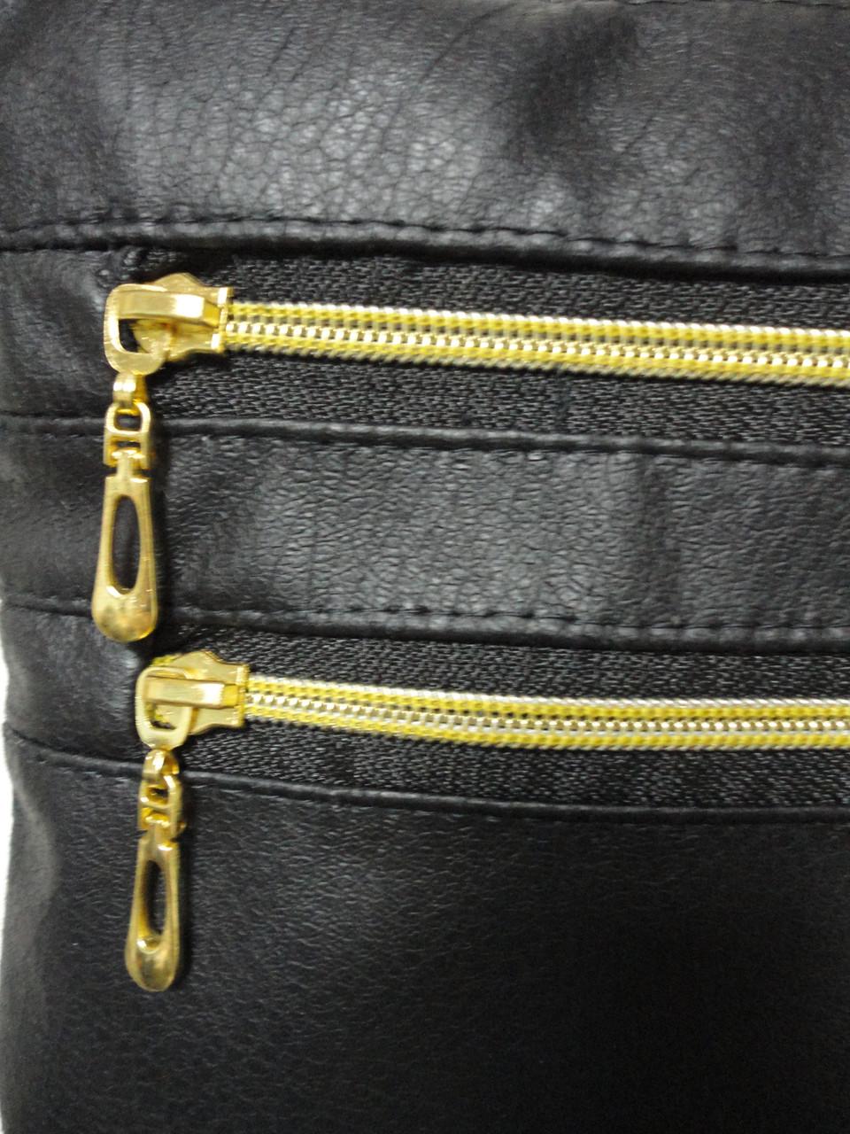 cb1c8eaa55e3 Барсетка женская через плечо маленькая вертикальная черная с золотыми  молниями, цена 160 грн., купить в Киеве — Prom.ua (ID#542455136)