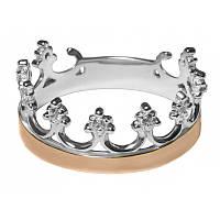 Кольцо корона серебро с золотой накладкой арт. u152