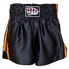 Шорты для тайского бокса (Muay Thai) FIREPOWER ST-14 Black/Orange, фото 2