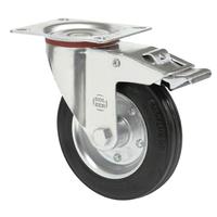 Колесо поворотное с тормозом 200 мм