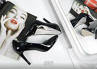 Туфли-лодочки женские лаковые черные