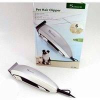 Машинка для стрижки собак и котов Surker HC-585 Pet Hair Clipper с 6 насадками, триммер Суркер 585
