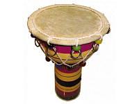 Барабан Джамбег красочный с верёвочной натяжкой