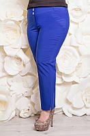 Летние женские брюки из тиара р.50-54 синий