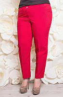 Летние женские брюки из тиара р. 50;52;56 красный