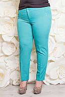 Летние женские брюки из тиара р.50-58 бирюза