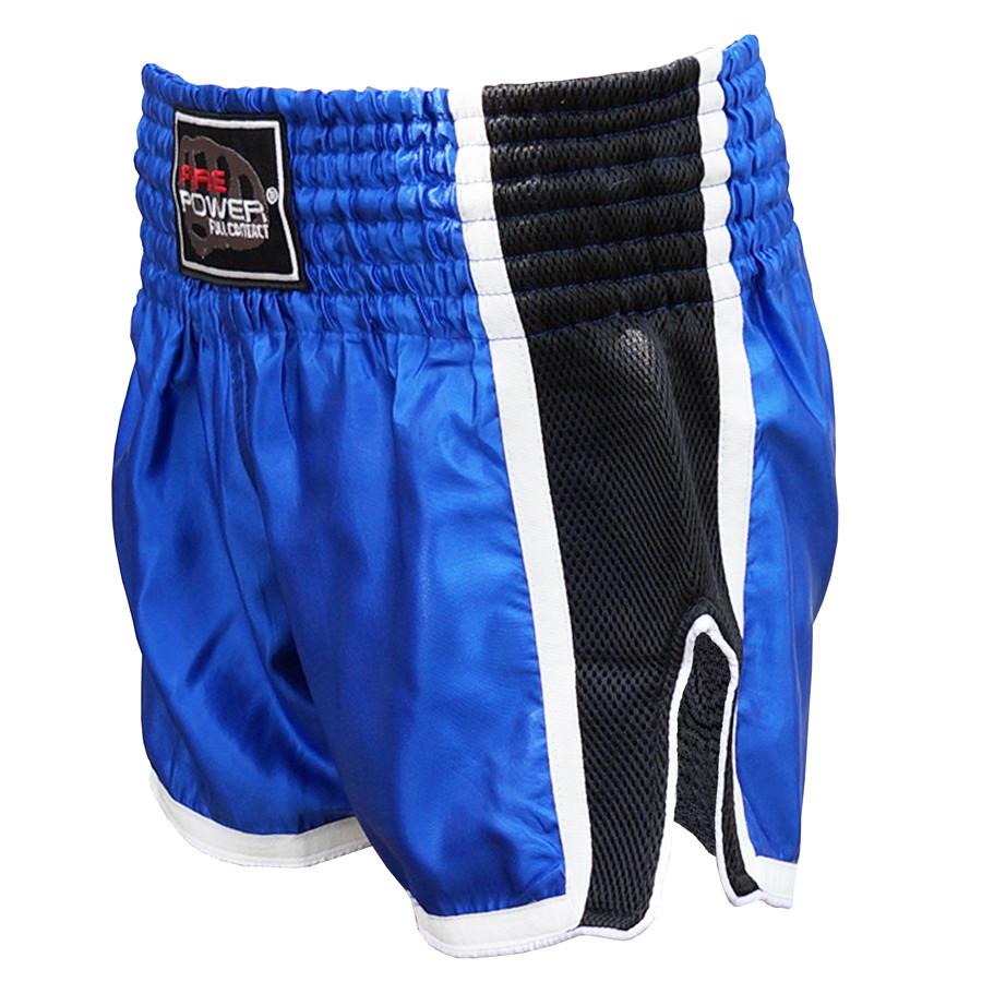 Шорты для тайского бокса (Muay Thai) FIREPOWER ST-16 Blue