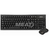 Комплект (клавиатура, мышь) беспроводной A4Tech 3100N Black USB