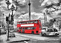 Раскраска по цифрам Идейка Лондонский автобус (KH2146) 35 х 50 см