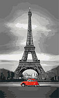 Картина раскраска по номерам без коробки Идейка Париж из прошлого (KHO2147) 30 х 50 см