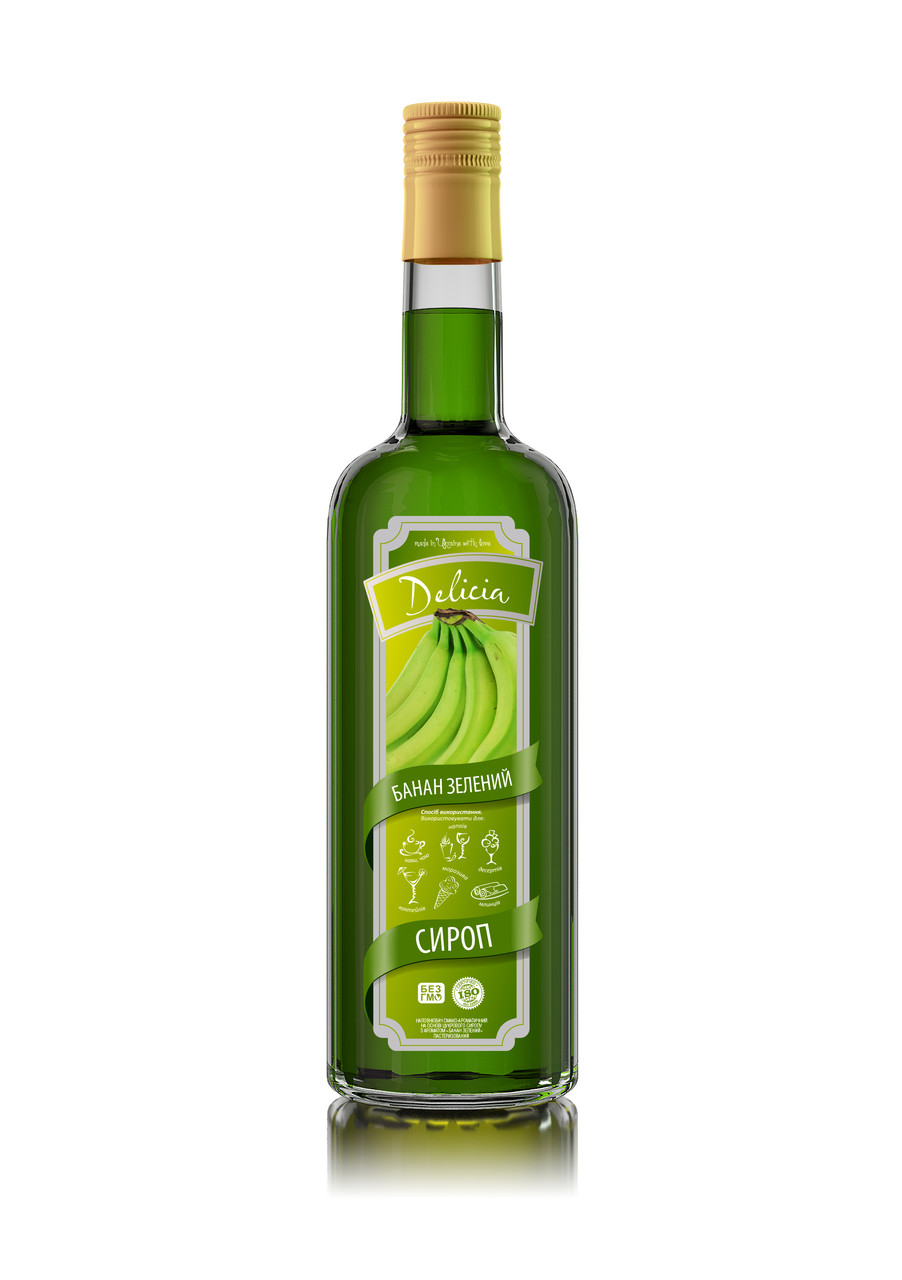 Сироп Delicia Банан зеленый 900 гр (ПЭТ)