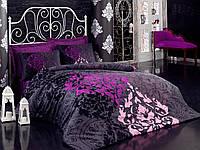 Сатиновое постельное белье Евро размера KOSEM SULTAN MURDUM CB01