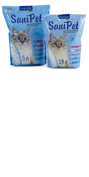 Селикогелевый наполнитель SaniPet 3.8 л