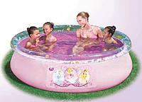 Бассейн с надувным бортом Fast Set 91052, серия Disney Princess, 244 х 66 см Новинка киев