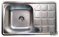 Кухонная стальная мойка (78*48*18 см)  Galati (Eko) Rodica Textură 8474