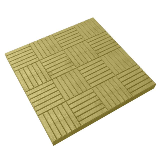 "Тротуарная плитка LAND BRICK ""Шоколадка"" 300х300х30 мм желтая"