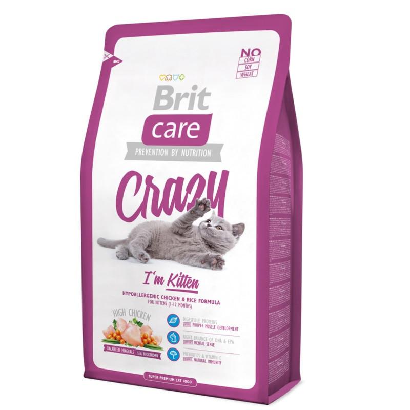 Brit Care Cat 2 kg Crazy для котят 1  12 месяцев
