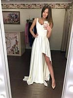 """Женское шикарное длинное платье с разрезом сбоку  ЛЯ""""Мерси"""""""