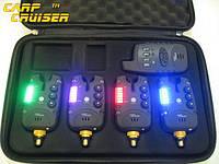 Набор Сигнализаторов Поклевки CarpCRUISER FA211-4 (4+1) с беспроводным радио пейджером продажа в Украине
