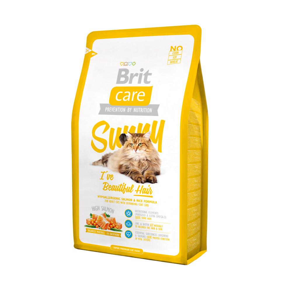Brit Care Cat 2 kg Sunny для здоровья кожи и шерсти