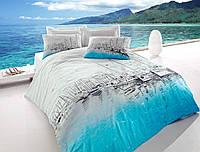 Хлопковый комплект постельного белья ЕВРО размера Cotton Box MARINA MAVI CB03