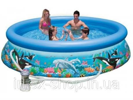 Надувной бассейн Intex Ocean Reef Easy Set Pool 28136 (54906) (366х76 см.), фото 2