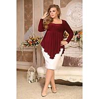 Женская блуза Вамп с рюшами размер 48-72