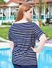 """Женская футболка в полоску """"Сири"""" большого размера, фото 2"""