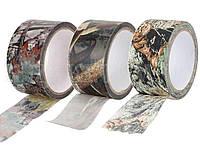 Маскировочная лента-скотч 5 х 1000 см Woodland Camo