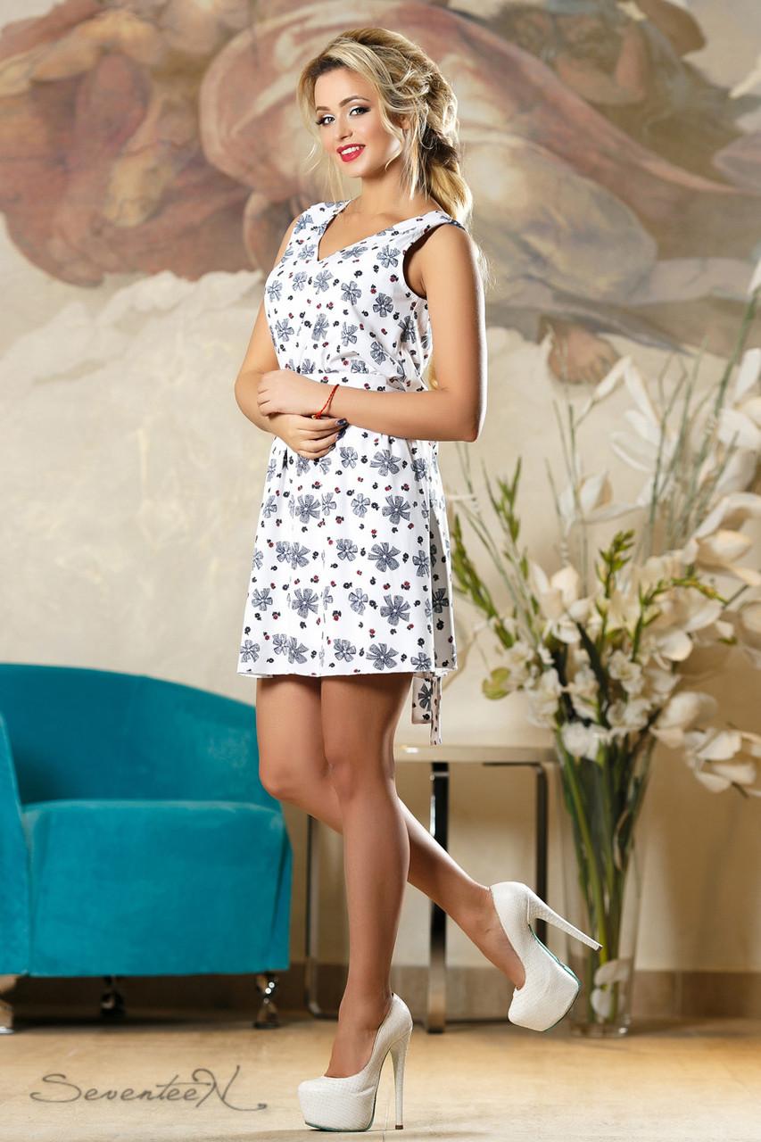 Красивое  женское летнее  платье 2156 белое