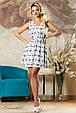 Красивое  женское летнее  платье 2156 белое, фото 2