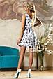 Красивое  женское летнее  платье 2156 белое, фото 3