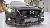 Накладка на передний бампер клыки губа Mazda 6 GJ (12-15)