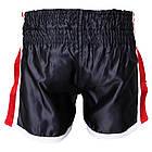 Шорти для тайського боксу (Muay Thai) FIREPOWER ST-16 Black/Red, фото 2
